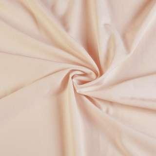 Биэластик гладкий бледно персиковый ш.150