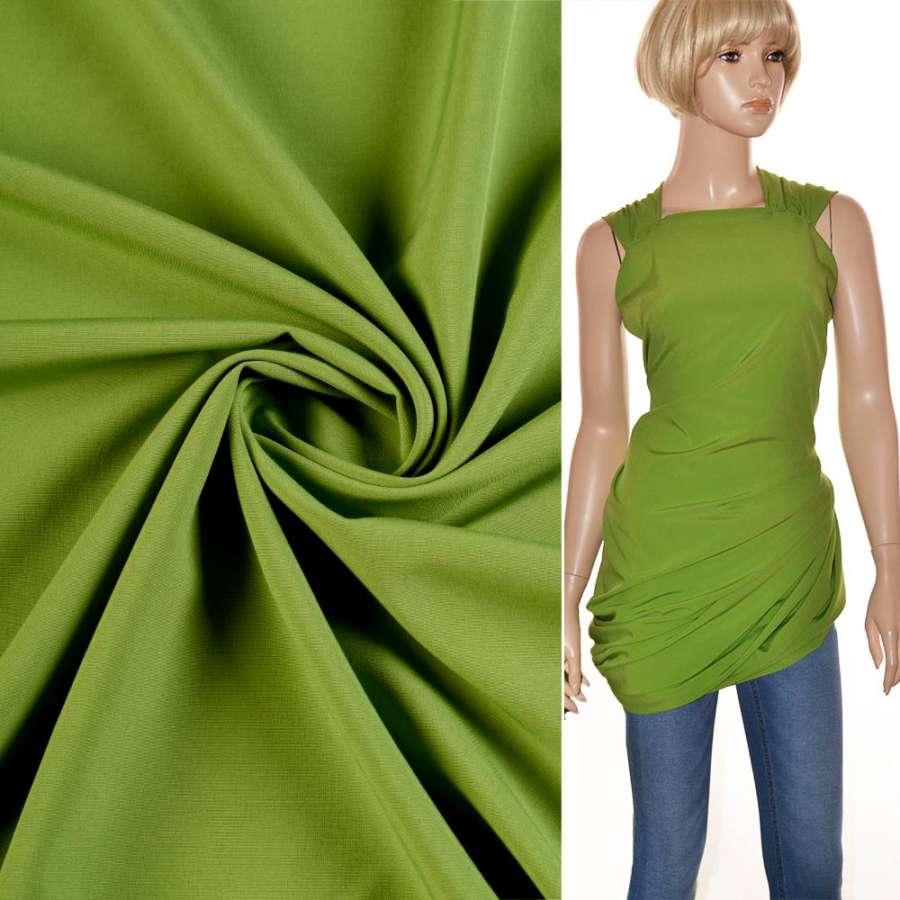 Биэластик гладкий светло зеленый ш.150