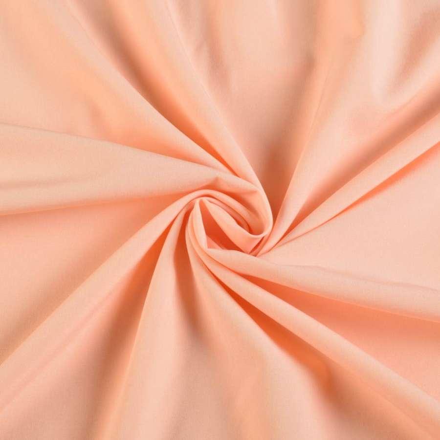 Биэластик гладкий оранжево персиковый ш.150