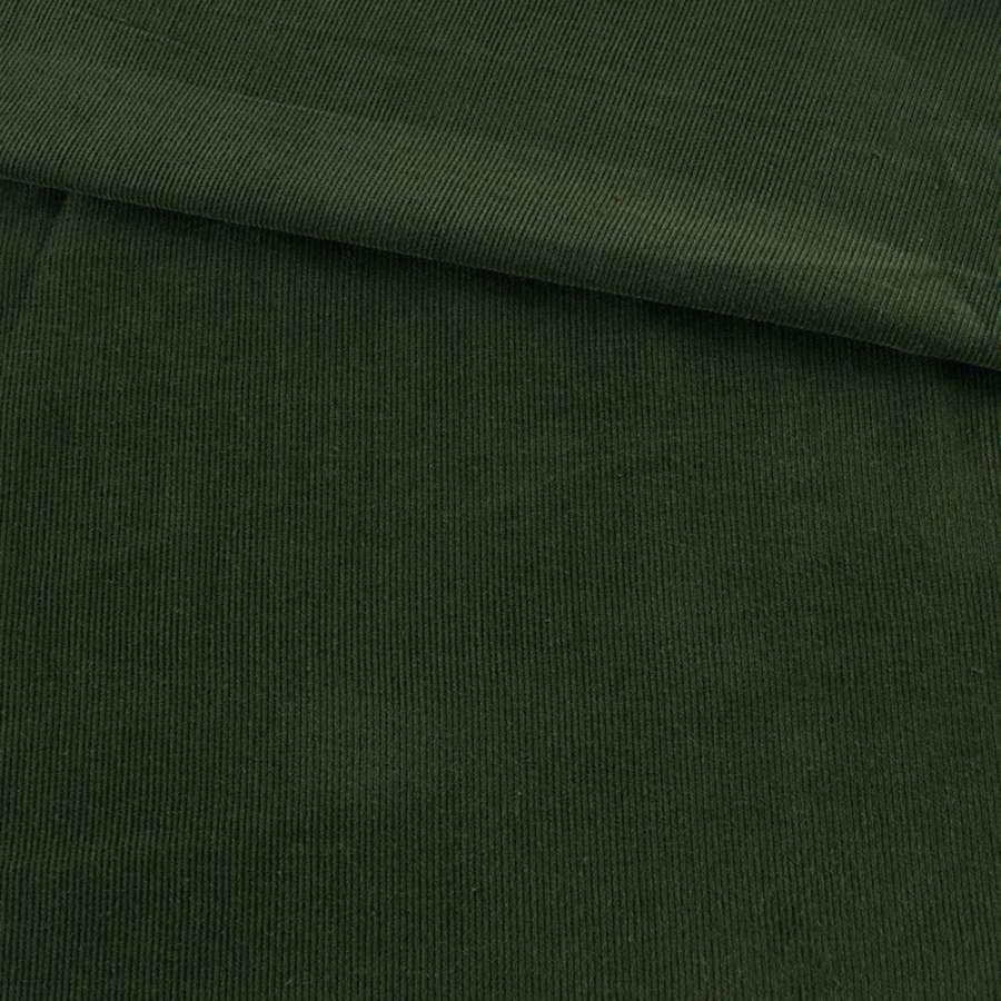 Микровельвет зеленый темный однотонный не стрейч, ш.145