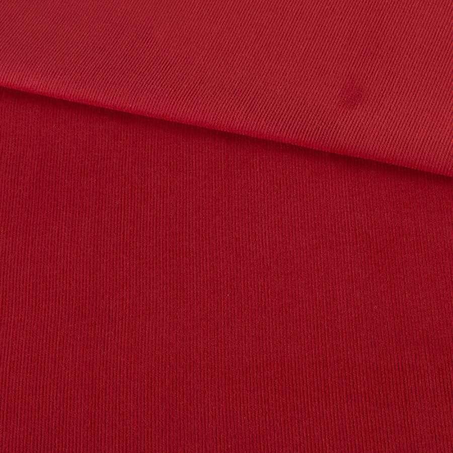 Микровельвет красный однотонный не стрейч, ш.145