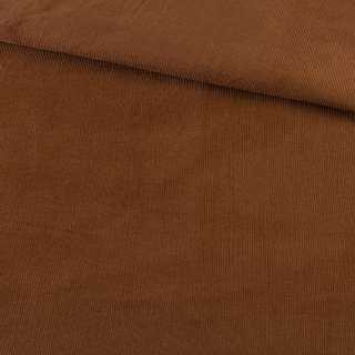 Микровельвет коричневый однотонный не стрейч, ш.145