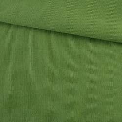Микровельвет зеленый однотонный не стрейч, ш.145