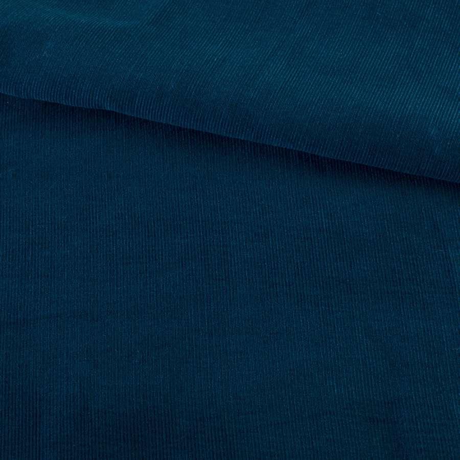 Микровельвет синий темный однотонный не стрейч, ш.145