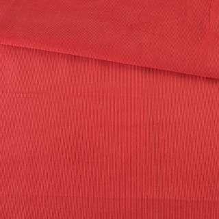 Микровельвет красный гренадин однотонный не стрейч, ш.145