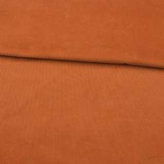 Мікровельвет помаранчевий темний не стрейч ш.145