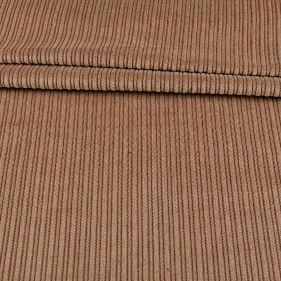 Вельвет однотонный коричневый средний, ш.145