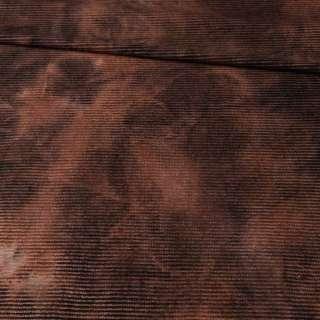 Коттон стрейч вельветовый рубчик коричневый
