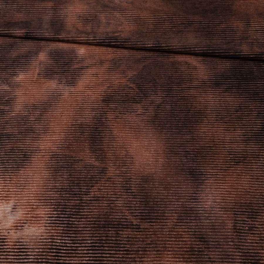 Стр.-коттон  с вел. рубчик  коричневый