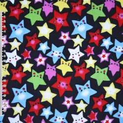 Мікровельвет синій темний зірки ш.110