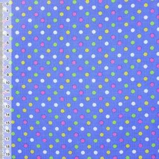 М/вельвет голубой в разноцвет. горох ш.115