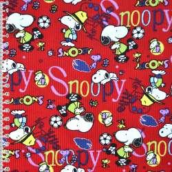 Мікровельвет червоний Snoopy ш.110