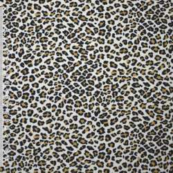 Мікровельвет бежевий з чорним леопард ш.110
