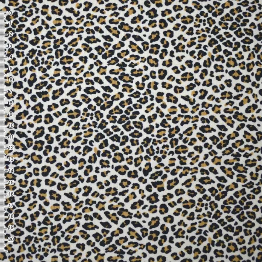 """м/вельвет бежевый с черным """"леопард"""" ш.110"""