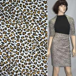 Мікровельвет білий з чорним леопард ш.110