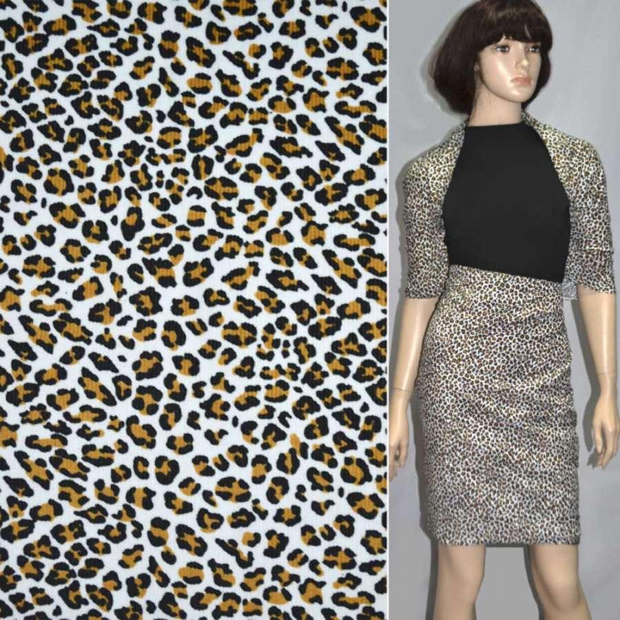 """м/вельвет белый с черным """"леопард"""" ш.110"""