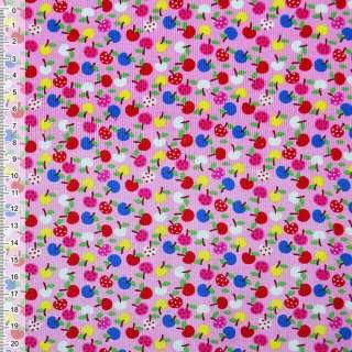Мікровельвет рожевий яблука ш.115