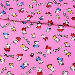 М/вельвет розовый, свинка Пеппа ш.110