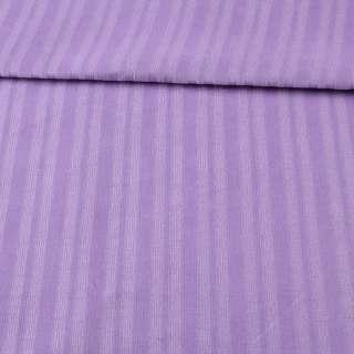 Микровельвет стрейч сиреневый в полоску, ш.140