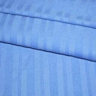 Микровельвет стрейч голубой в полоску