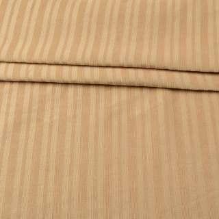 Микровельвет стрейч бежевый в полоску, ш.140