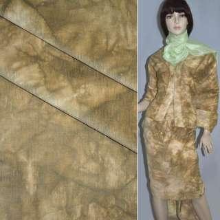 Мікровельвет стрейч виварений коричнево-бежевий ш.145