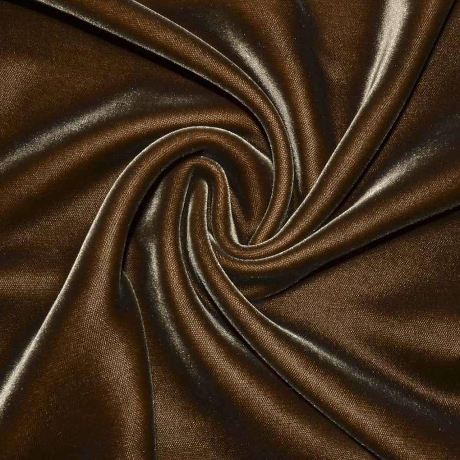 Бархат шелковый т.-коричневый, ш.115