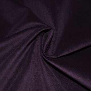 Велюр стрейч т.-фиолетовый однотонный, ш.145