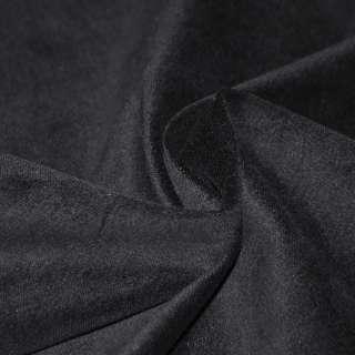 Велюр стрейч бавовняний чорний ш.150
