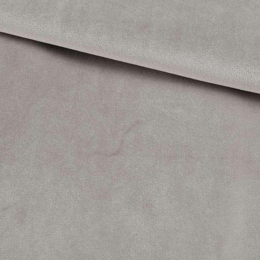 Велюр костюмный серый светлый кварцевый ш.153