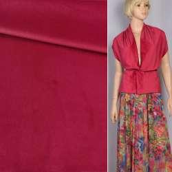 Велюр костюмний червоний темний ш.150