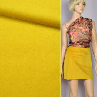 Велюр костюмный желтый золотистый ш.150