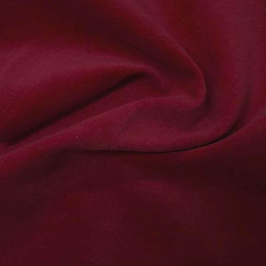 Велюр хлопковый т.-вишневый однотонн., ш.85