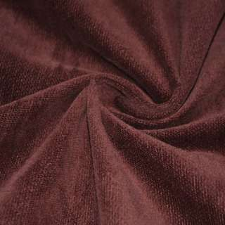 Велюр коричнево-червоний однотонний, ш. 106