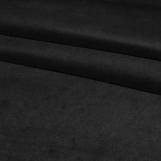 Велюр стрейч черный однотонный, ш. 110