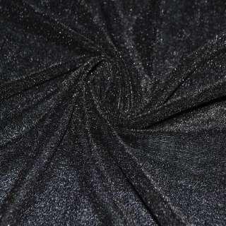 Стрейч велюр черный ш.150