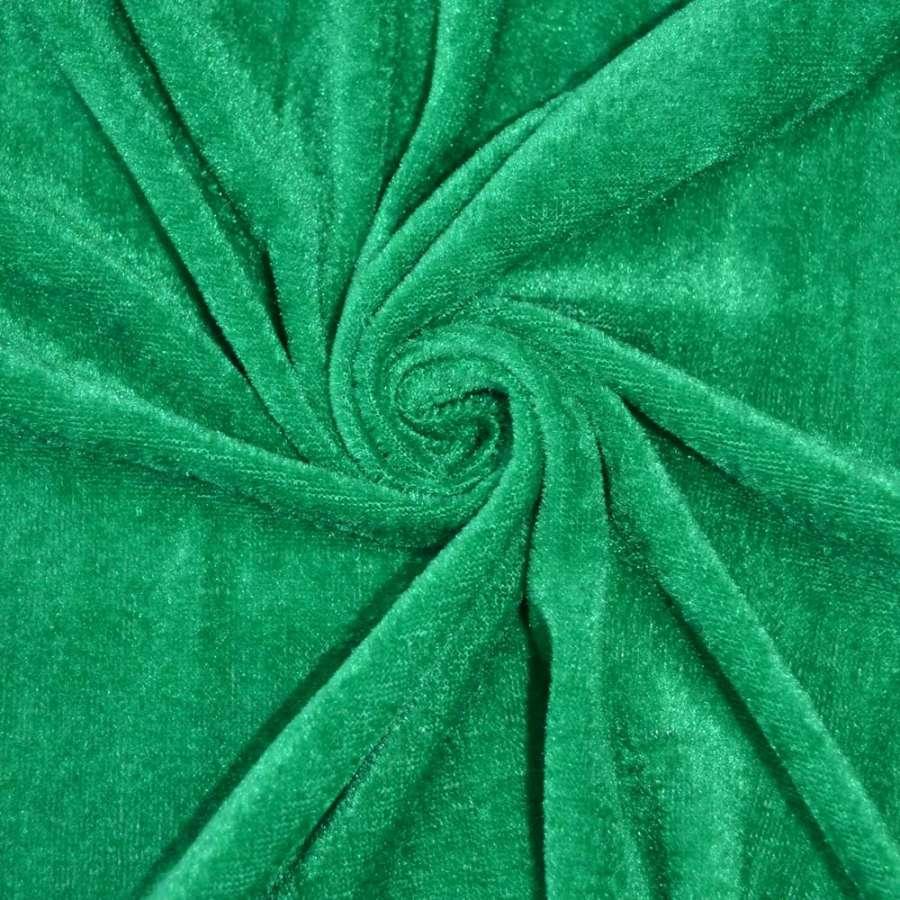 Велюр зеленый ш.150