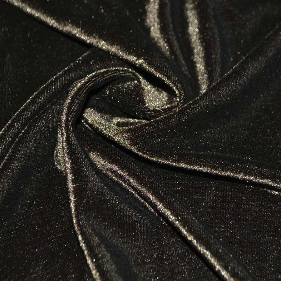 Стрейч велюр коричневый ш.160