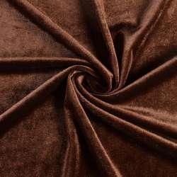 Велюр стрейч коричневый, ш.165