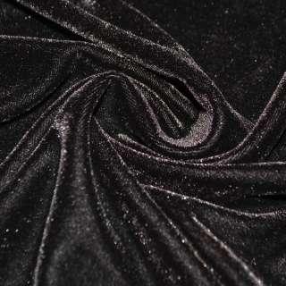 Стрейч велюр темно коричневый ш.160