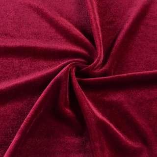 Велюр стрейч красный темный, ш.165