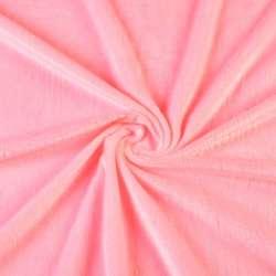Велюр стрейч рожевий яскравий ш.165