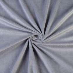 Велюр стрейч сірий ш.160