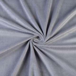 Велюр стрейч серый ш.160