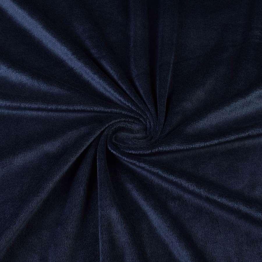 Велюр стрейч синій темний ш.170