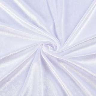 Велюр стрейч белый, ш.170