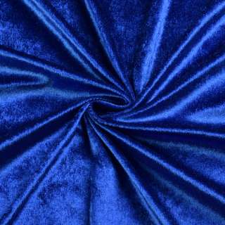 Велюр стрейч синий, ш.170