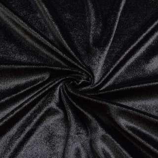 Велюр стрейч черный, ш.170