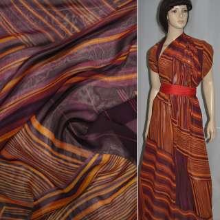 вискоза  блуз.  коричневая бордо (полоска) ш.140