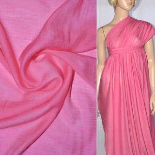 Віскоза з органзой яскраво-рожева ш.150